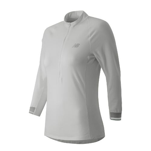 Womens New Balance Performance 3/4 Long Sleeve Technical Tops - White XL
