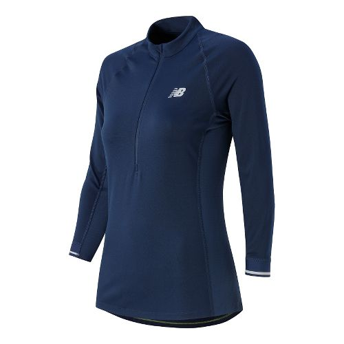 Womens New Balance Performance 3/4 Long Sleeve Technical Tops - Aviator XL