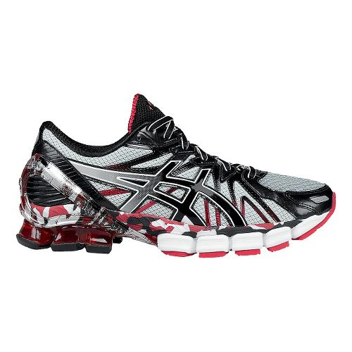 Mens ASICS GEL-Sendai 3 Running Shoe - Black/Red 8