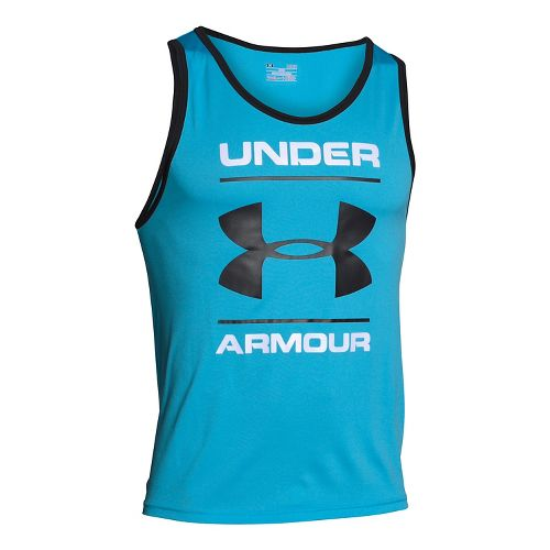 Mens Under Armour Tech Graphic Sleeveless & Tank Technical Tops - Meridian Blue XS-R