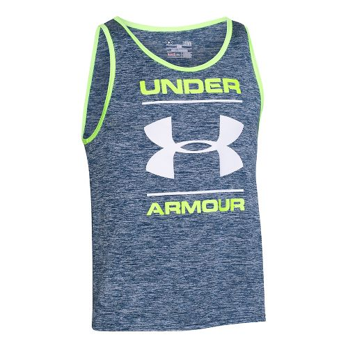 Mens Under Armour Tech Graphic Sleeveless & Tank Technical Tops - Blackout Navy XXL-R