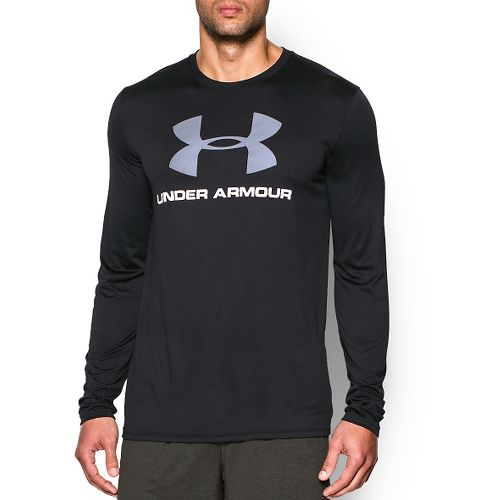 Mens Under Armour Tech SportStyle Long Sleeve Technical Tops - Black XXL-R