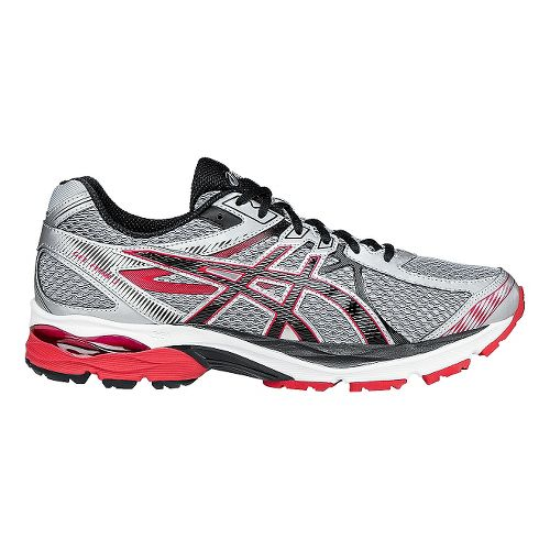 Mens ASICS GEL-Flux 3 Running Shoe - Silver/Racing Red 8
