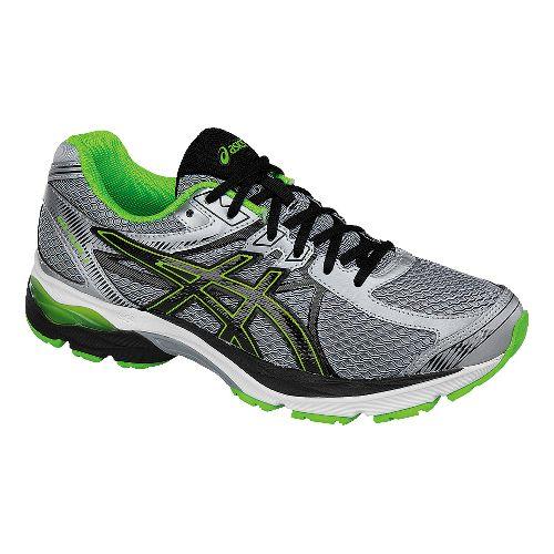 Mens ASICS GEL-Flux 3 Running Shoe - Grey/Green 12.5
