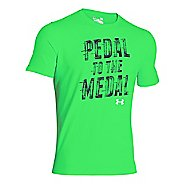 Mens Under Armour Pedal to the Medal T Short Sleeve Technical Tops