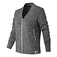 Womens New Balance Push The Past Cardigan Long Sleeve Non-Technical Tops