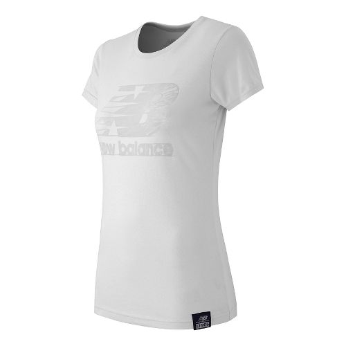 Women's New Balance�Essentials Plus Short Sleeve Logo Tee
