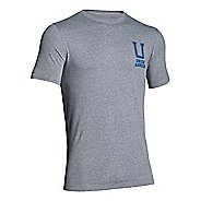 Mens Under Armour Collegiate T Short Sleeve Technical Tops