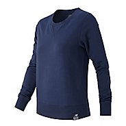 Womens New Balance Crewneck Sweater Hoodie & Sweatshirts Technical Tops