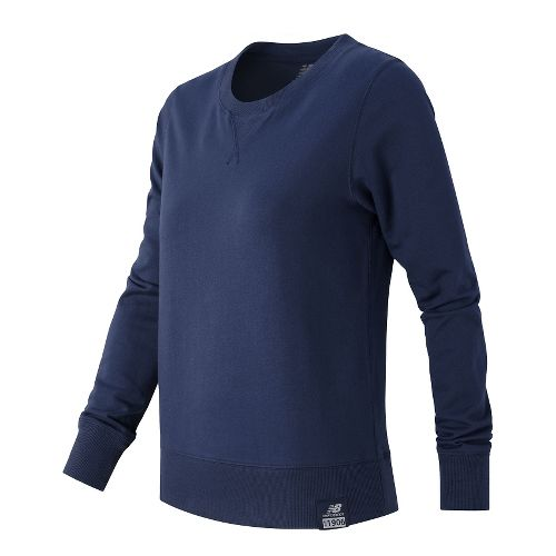 Womens New Balance Crewneck Sweater Hoodie & Sweatshirts Technical Tops - Navy L