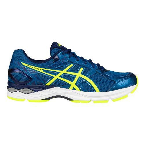 Mens ASICS GEL-Exalt 3 Running Shoe - Blue/Yellow 12.5