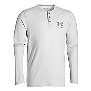 Mens Under Armour Triblend Henley Long Sleeve Technical Tops