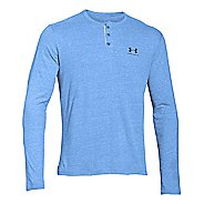 Mens Under Armour Tri-blend Longsleeve Henley Long Sleeve Technical Tops