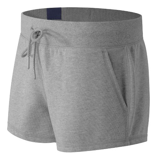 Womens New Balance French Terry Unlined Shorts - Mirage 2X