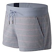 Womens New Balance French Terry Unlined Shorts