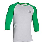Mens Under Armour Tri-blend 3/4 Sleeve T Short Sleeve Technical Tops