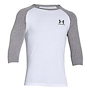 Mens Under Armour Tri-blend 3/4 Sleeve T Short Sleeve Technical Tops