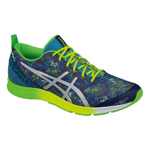 Mens ASICS GEL-Hyper Tri 2 Running Shoe - Navy/Green 9