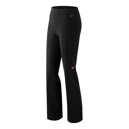 Womens New Balance Premium Perf Bootcut Pants - Black XS