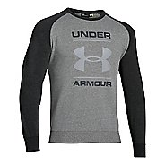 Mens Under Armour Tri-blend Fleece Crew Logo Hoodie & Sweatshirts Technical Tops