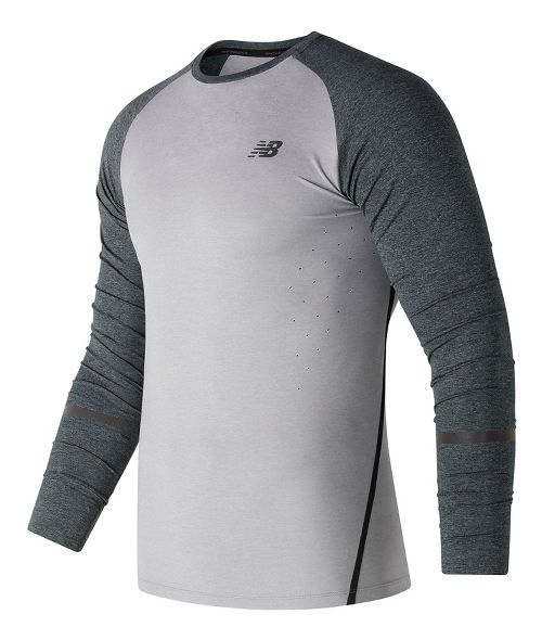 Mens New Balance Trinamic Top Short Sleeve Technical Tops - Athletic Grey L