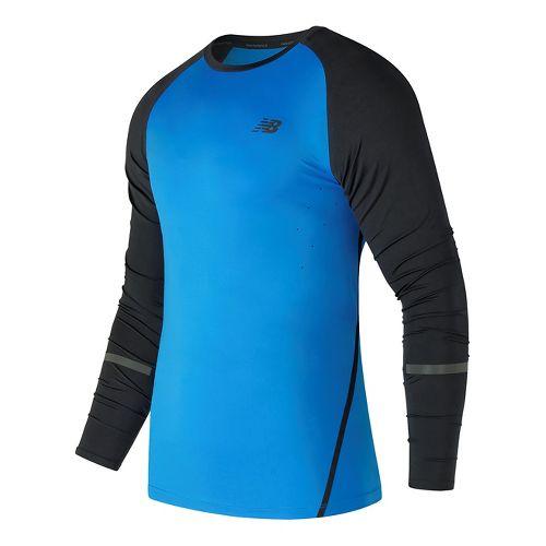 Mens New Balance Trinamic Top Short Sleeve Technical Tops - Electric Blue L