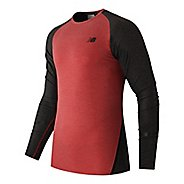 Mens New Balance Trinamic Long Sleeve Technical Tops