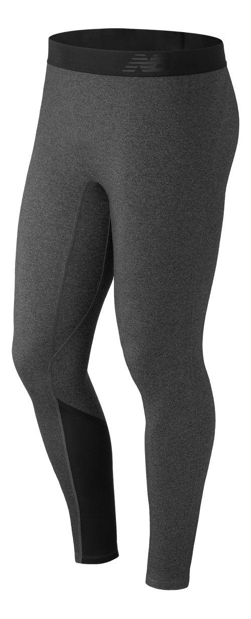 Mens New Balance Trinamic Tights & Leggings Pants - Heather Charcoal XL