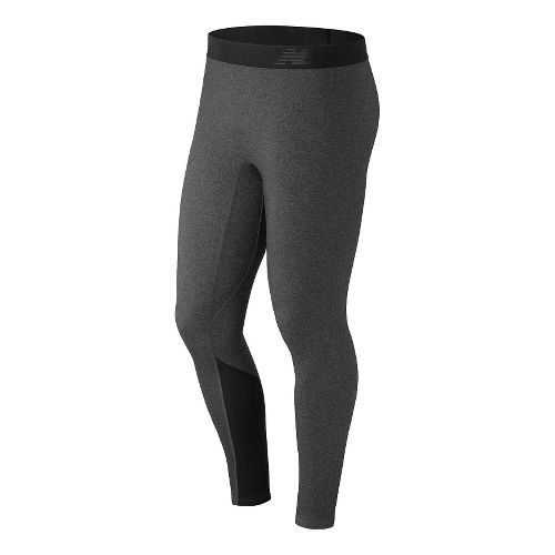 Mens New Balance Trinamic Tights & Leggings Pants - Heather Charcoal L