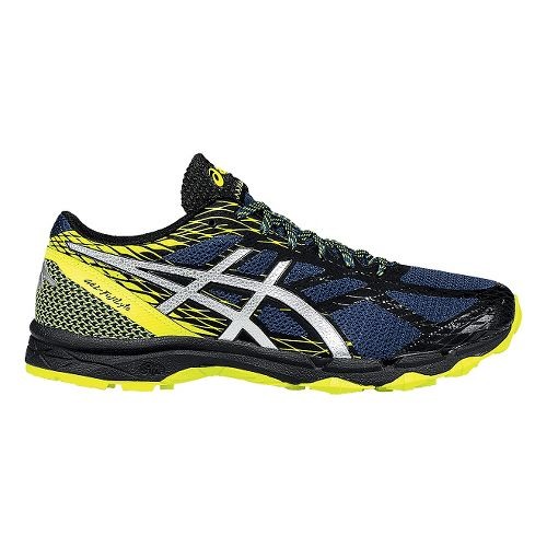Mens ASICS GEL-FujiLyte Trail Running Shoe - Mediterranean/Yellow 10