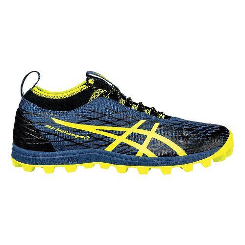 Mens ASICS GEL-FujiRunnegade 2 Trail Running Shoe - Mediterranean/Yellow 9