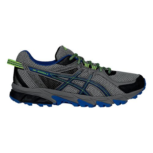 Mens ASICS GEL-Sonoma 2 Trail Running Shoe - Carbon/Green 12