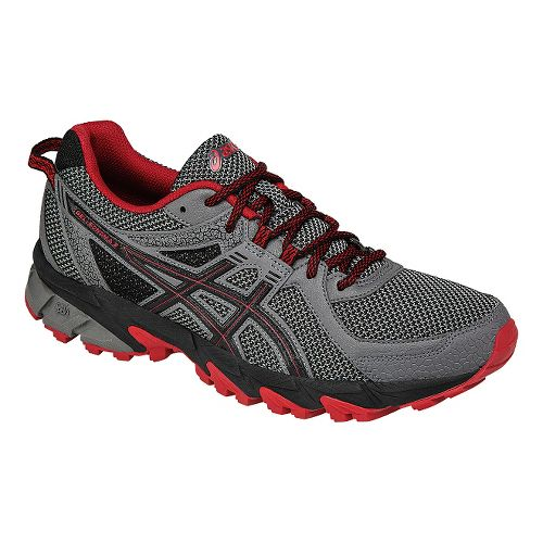 Mens ASICS GEL-Sonoma 2 Trail Running Shoe - Grey/Red 10