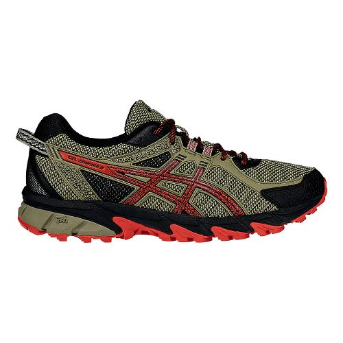 Mens ASICS GEL-Sonoma 2 Trail Running Shoe - Orange/Black 11
