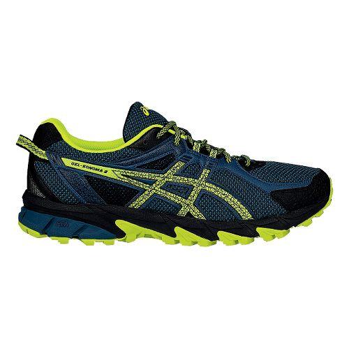 Mens ASICS GEL-Sonoma 2 Trail Running Shoe - Mediterranean/Yellow 11.5