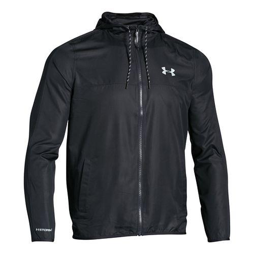 Mens Under Armour Sportstyle Windbreaker Running Jackets - Black/Steel XXL