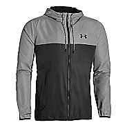 Mens Under Armour Sportstyle Windbreaker Running Jackets - Stealth Grey L