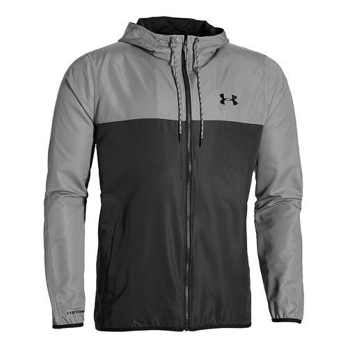 Mens Under Armour Sportstyle Windbreaker Running Jackets - Stealth Grey L