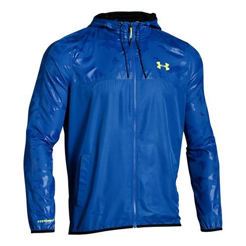 Mens Under Armour Sportstyle Windbreaker Running Jackets - Ultra Blue XXL