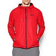 Mens Under Armour Sportstyle Windbreaker Running Jackets - Rocket Red L