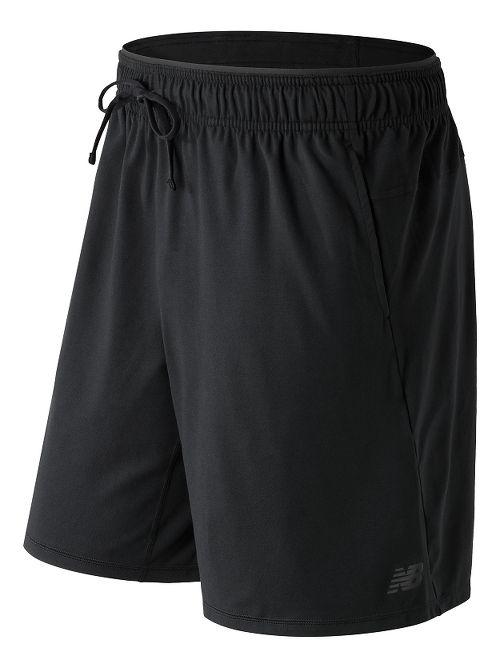 Mens New Balance N Transit Knit Unlined Shorts - Black XL