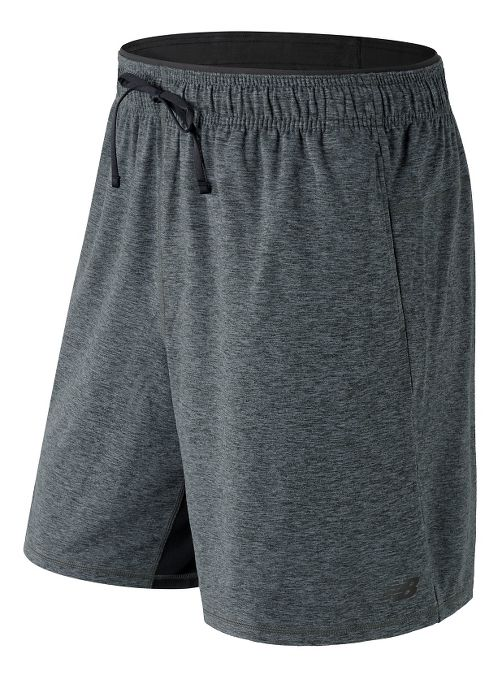 Mens New Balance N Transit Knit Unlined Shorts - Heather Charcoal L