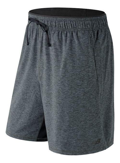 Mens New Balance N Transit Knit Unlined Shorts - Heather Charcoal XL