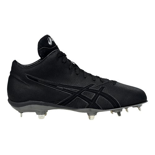 Mens ASICS CrossVictor QT Cleated Shoe - Black/Black 11.5