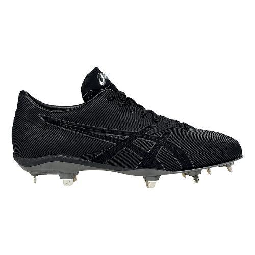 Mens ASICS CrossVictor LT Cleated Shoe - Black/Black 7