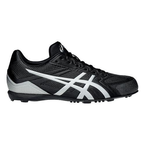 Mens ASICS Base Burner Cleated Shoe - Black/Silver 10.5