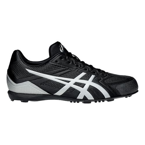 Mens ASICS Base Burner Cleated Shoe - Black/Silver 6