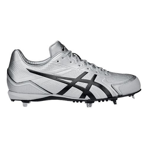 Mens ASICS Base Burner Cleated Shoe - Silver/Black 6.5