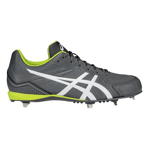Mens ASICS Base Burner Cleated Shoe - Titanium/White 8.5
