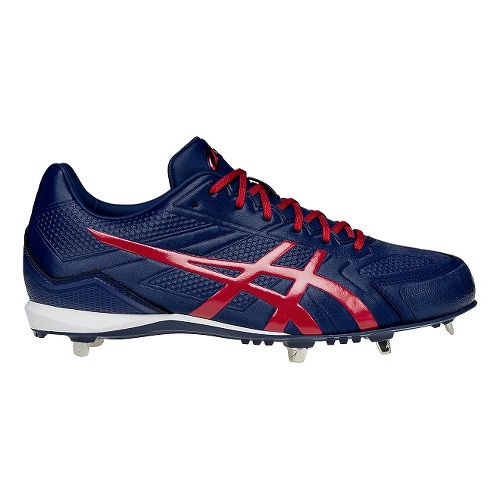 Mens ASICS Base Burner Cleated Shoe - Blue/Red 12.5